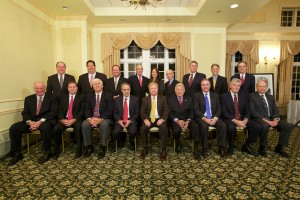 The living past Presidents of the Middlesex County Trial Lawyers Association, including four Martin Kane Kuper Partners