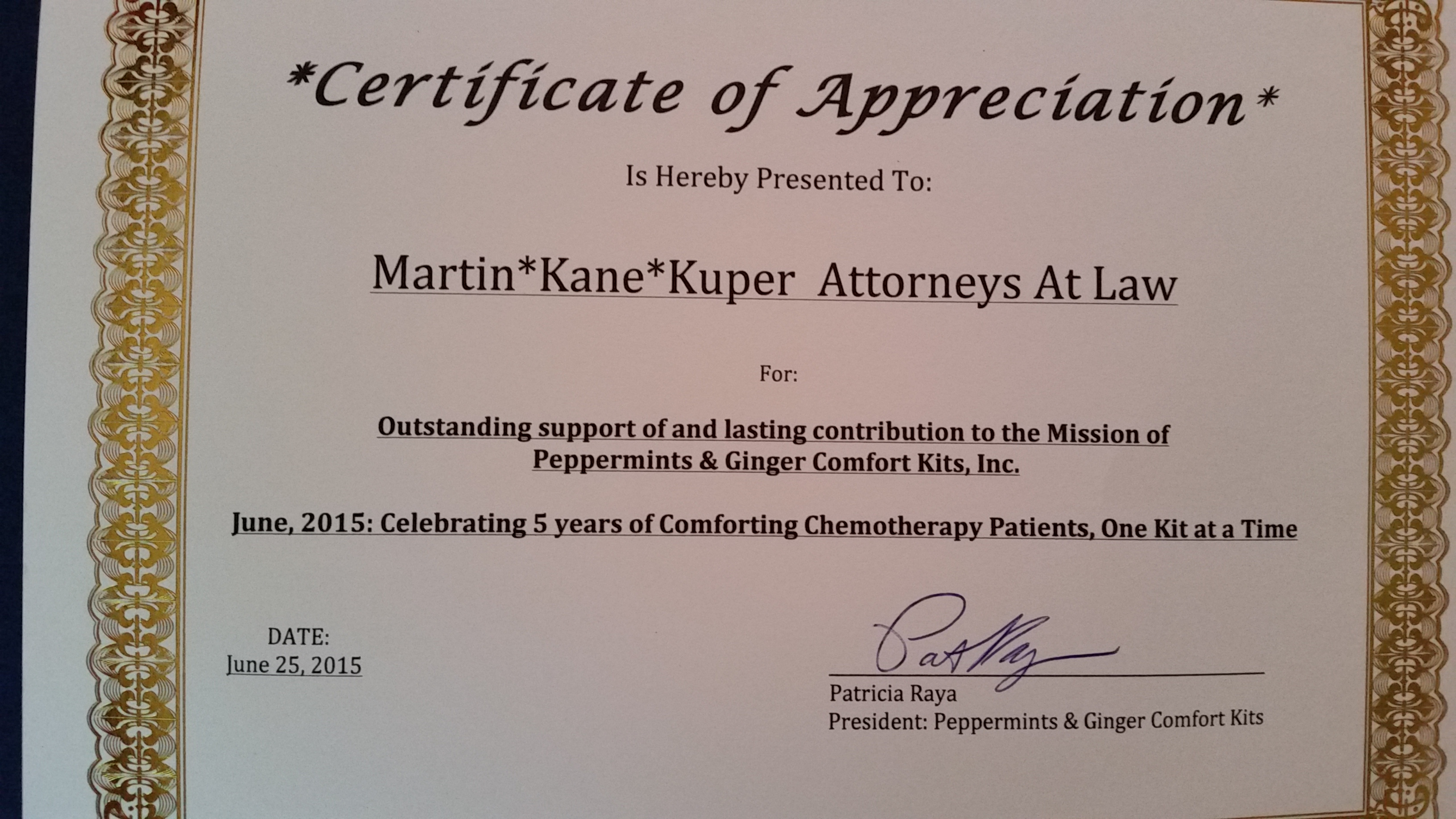 Firm news law firm martin kane kuper attorneys east brunswick 20150625091402 yadclub